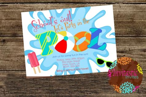 pool party invitations psd ai eps design trends