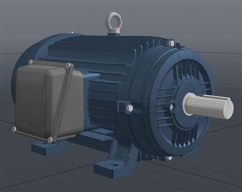 Industrial Electric Motors by 3d Model Industrial Electric Motor Vr Ar Low Poly Obj