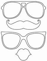 Glasses Printable Template Lips Props Mustache Coloring Booth Photobooth Sunglasses Kindergarten Drawing Emoji Knutselen Crafts Manualidades Prop Draw Outline Preschool sketch template