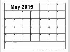 Printable Calendar May 2015
