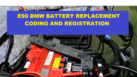 bmw   series battery replacement  registration