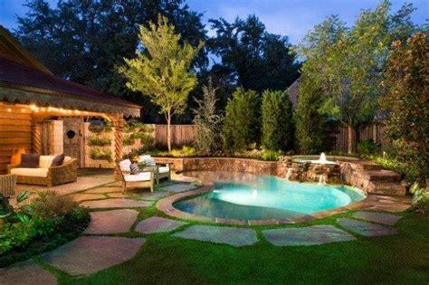 Beautiful Backyard Lighting Pools