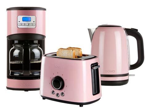 wasserkocher toaster set retro retro design fr 252 hst 252 cksset toaster wasserkocher kaffeemaschine in rosa ebay