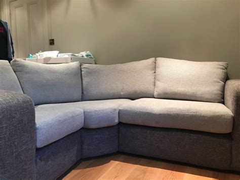Grey Upholstered Curved Corner Sofa For Sale In Dublin 2