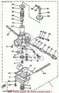 Yamaha Yt125l Tri-moto 1984 Carburetor