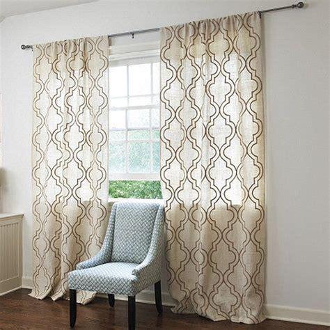 curtain draping ideas burlap crewel trellis panel drapery ideas