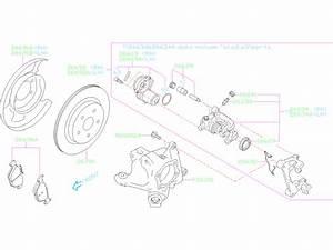 Subaru Outback Disc Brake Spring  Rear   Pad Clip Brake