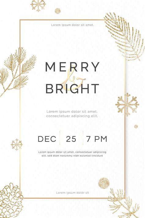 Download premium vector of Christmas gold frame social