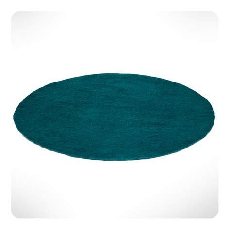 taille minimum chambre tapis rond bleu canard diam 120cm laurette