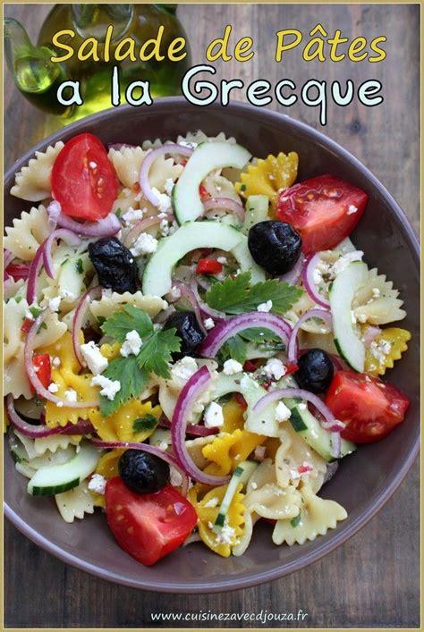 cuisine grecque recette 1000 idées sur le thème salades de pates grecques sur