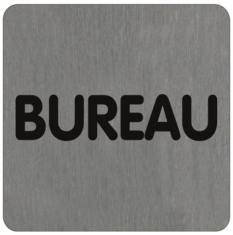 signaletique bureau plaque de porte alu brossé bureau direct signalétique