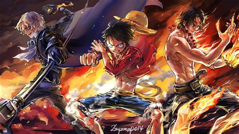 sabo monkey  luffy portgas  ace battle anime  piece