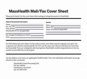 fax cover sheet 27 download free documents in pdf word sample templates With fax cover sheet masshealth