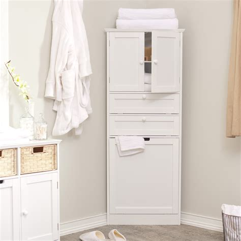 corner linen cabinet for bathroom taylor corner linen tower with her white at hayneedle