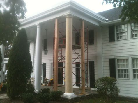 Replacing Exterior Columns In Merion Pa By John Neill Painting