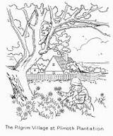 Plantation Plimoth Coloring Pages Template sketch template