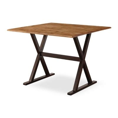 square dining tables with leaves 40 quot square drop leaf rustic dining table threshold target 8209