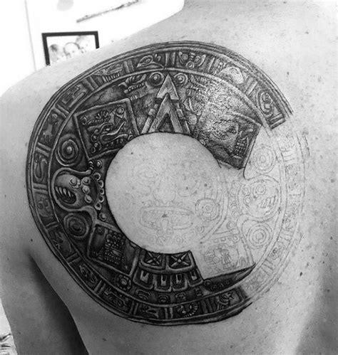 mayan calendar tattoo designs  men tzolkin ink ideas