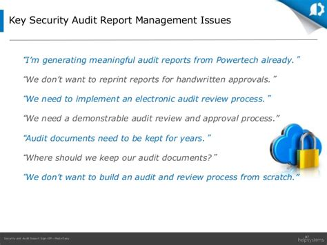 security  audit report sign offmade easy