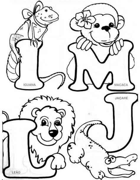 Alfabeto de animales para colorear Oh my Alfabetos