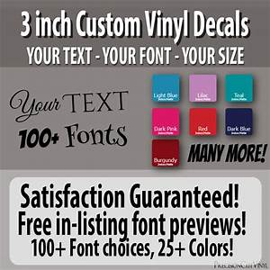 3 in custom vinyl lettering text vinyl wall decal window With 3 inch vinyl letters