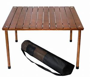 portable folding camping picnic table wood low desk indoor With wooden folding table portable unit for all condition