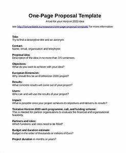 One Page Research Proposal Example Personal Finance Essay 1 Page