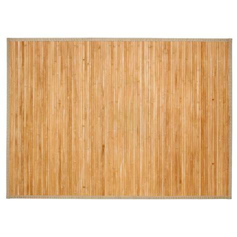 tapis en bambou quot latte quot 120x170cm naturel