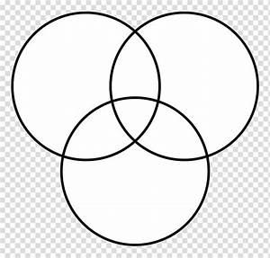 Venn Diagram Circle Intersection  Ring Lines Transparent