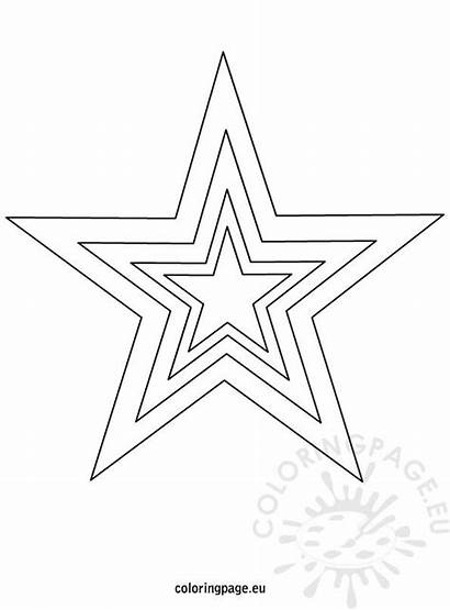 Star Christmas Template Printable Coloring Tree Pages