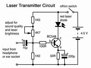 update sound via light With laser diode circuit