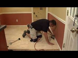 Amtico spacia flooring installation youtube for Removing amtico flooring