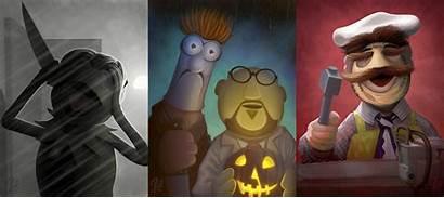 Horror Characters Muppets Jason Beck Famous Artist