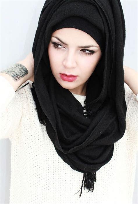 ways  stylize easy loose hijab  tutorial