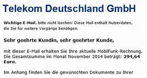 Telekom Deutschland Gmbh Rechnung : neue november mobilfunkrechnung wird von internetbetr gern im namen der telekom deutschland ~ Themetempest.com Abrechnung