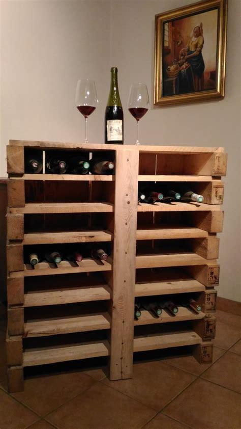 meuble rangement cuisine bar à vin en bois de palette recyclé créations en bois