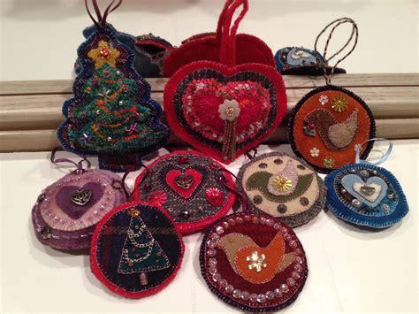 handmade wool christmas ornaments felt pinterest