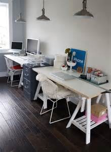 cool double desk     ikea home office