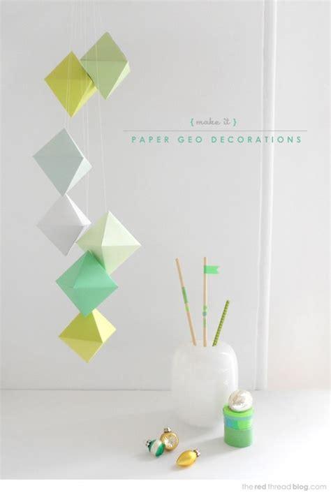 printable geometric shape ornaments craft geo paper decorations printable