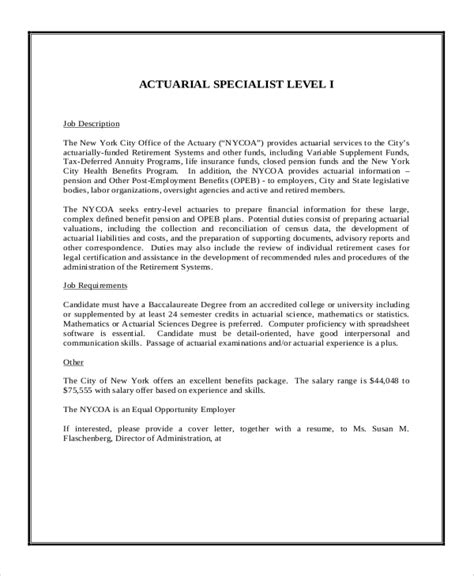 Actuarial Resume Sles by Resume Actuarial Science Student