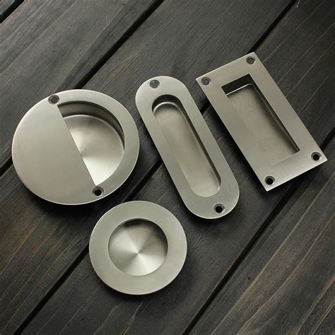 hot stainless steel door handle flush recessed pull