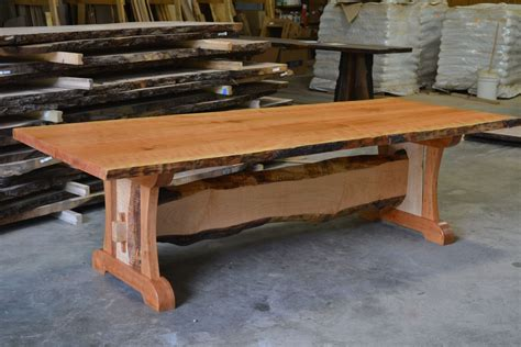 what is a live edge table hand crafted live edge cherry dining table with live edge