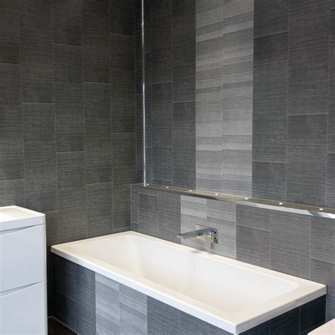 Modern Anthracite Large Tile Wall Panels By Hobson Interiors