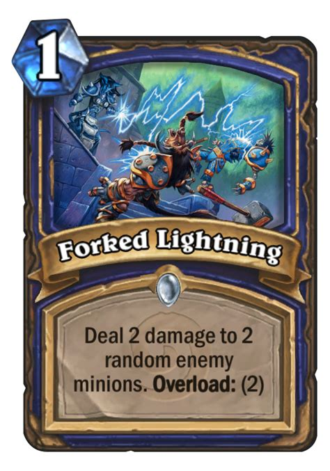 forked lightning hearthstone card