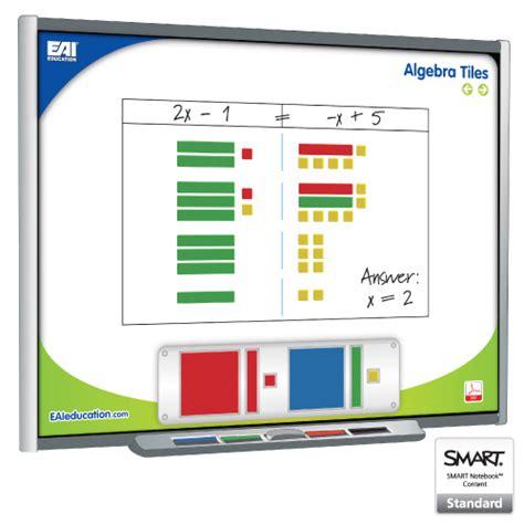 eai 174 virtual algebra tiles for the smart board