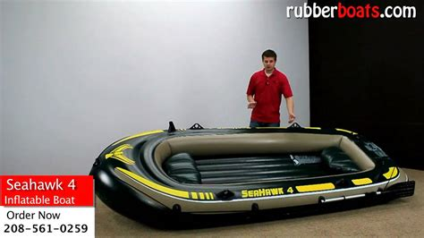 Seahawk 6 Person Inflatable Boat by Intex Seahawk 4 Inflatable Fishing Boat Video Review By