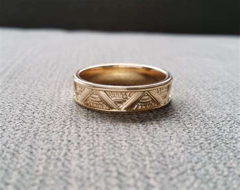 Art Deco Mens Wedding Band Ring Pattern Antique Unique