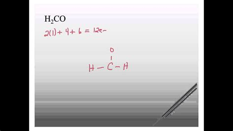 H2co Dot Diagram by H2co Lewis Structure