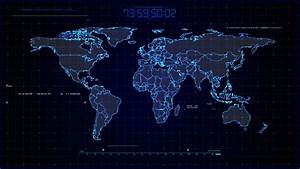 Airline Flight Tracking World Map In Retro 1980s Vector ...