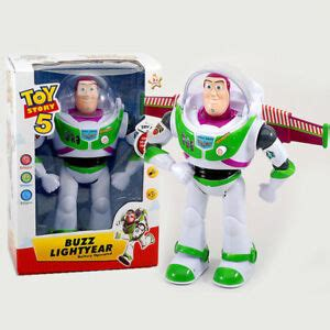 toy story buzz lightyear talking walking figure robot toy light sounds ebay